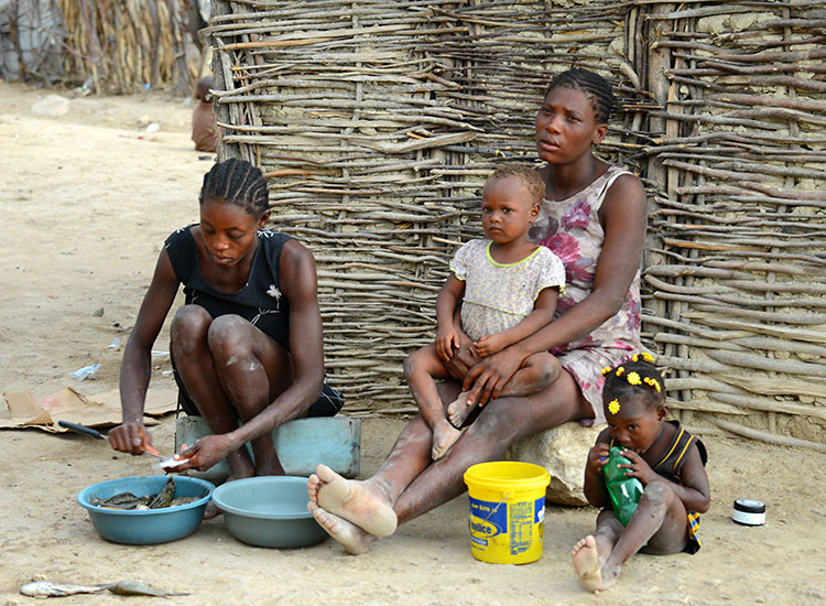 Children haven't eaten in several days and suffer constant hunger pains.