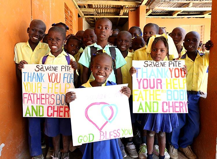 Thankful children of Savaan Pit.