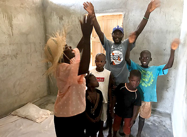 precious families who were living in the cave and now have new homes bless the Lord.