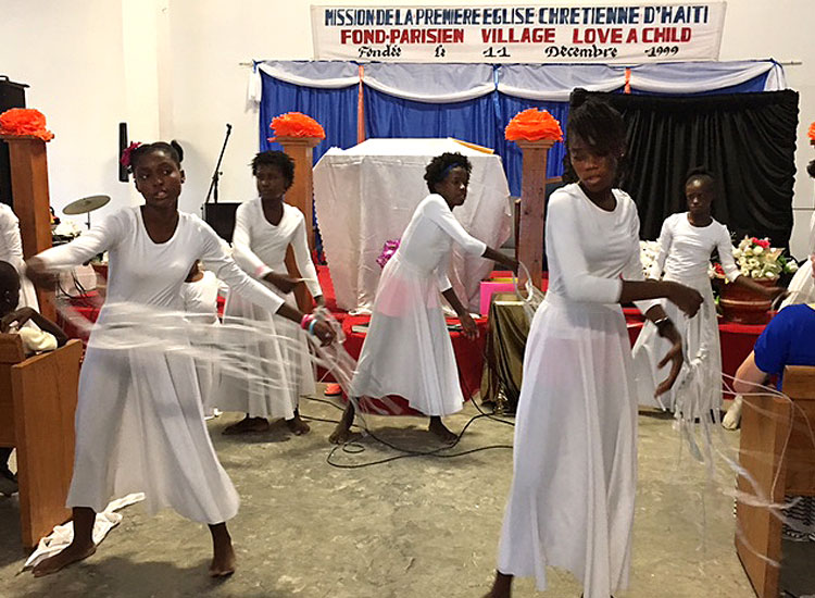 They taught dance worship to our teenage girls