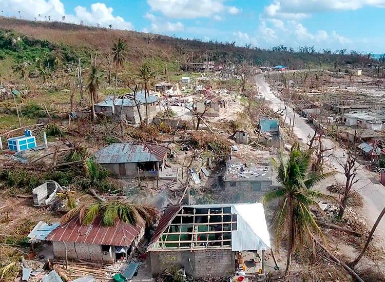 Haiti after Hurricane Matthew.