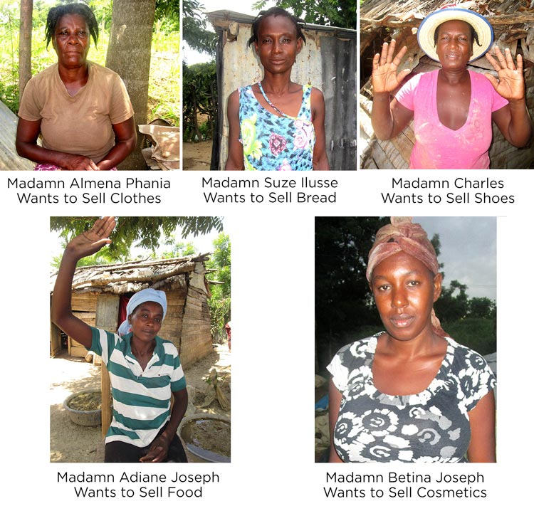 Five women of Sapaterre want to start a business.
