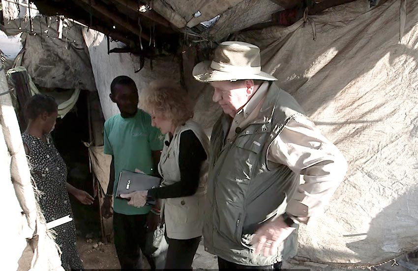 """Some food for them, and a new bible too. We asked him, """"Do you know Jesus?"""""""