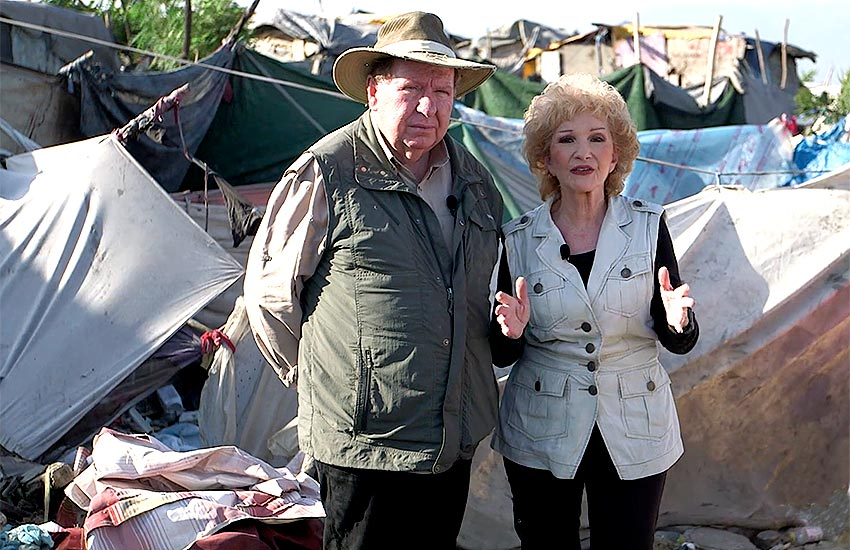 Bobby and Sherry are working to help these poor people of Rapatrié in the garbage dumps of Cité Soleil