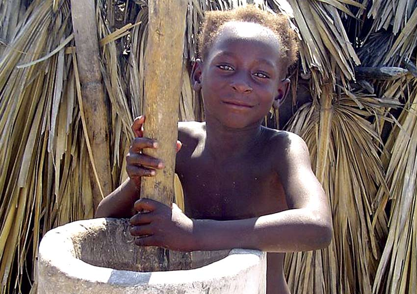 Many children end up in the slave trade.