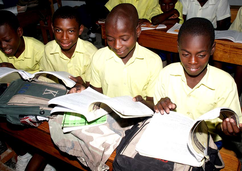 Books and school supplies are paid through child sponsorship.