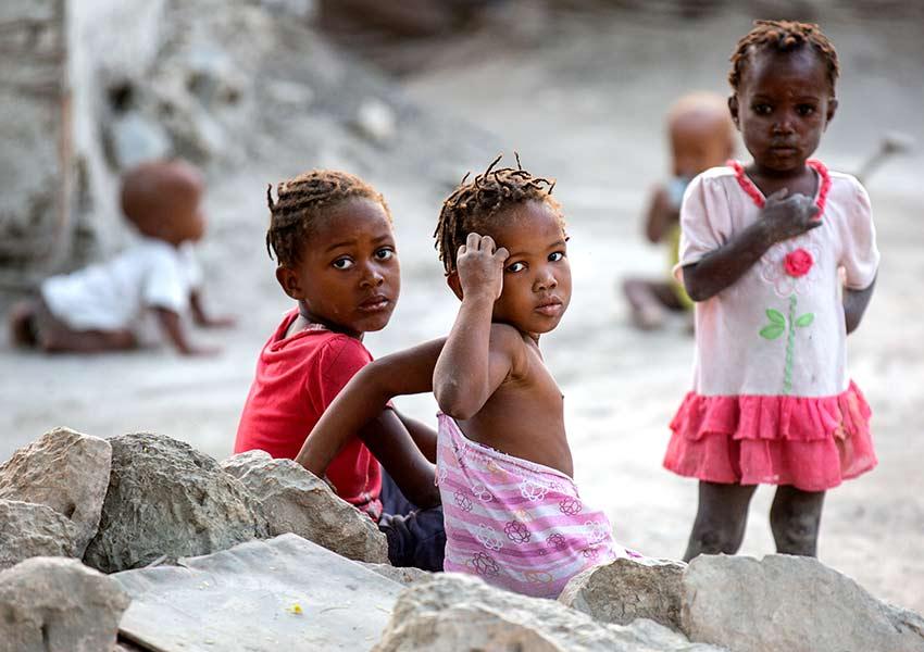 Children suffering in Haiti.