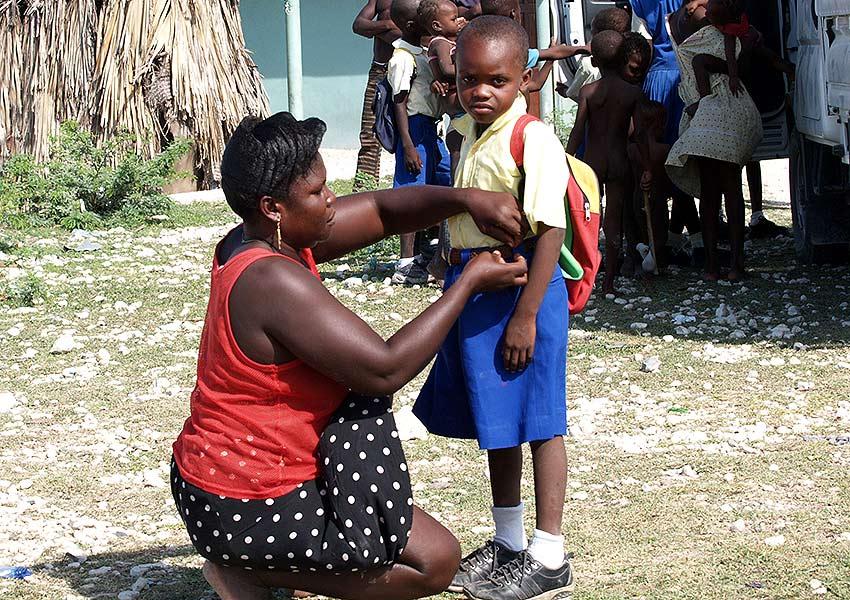 Child sponsorship offers an education to many poor children in Haiti.