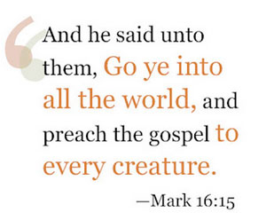 Love A Child preaches the gospel to every creature.