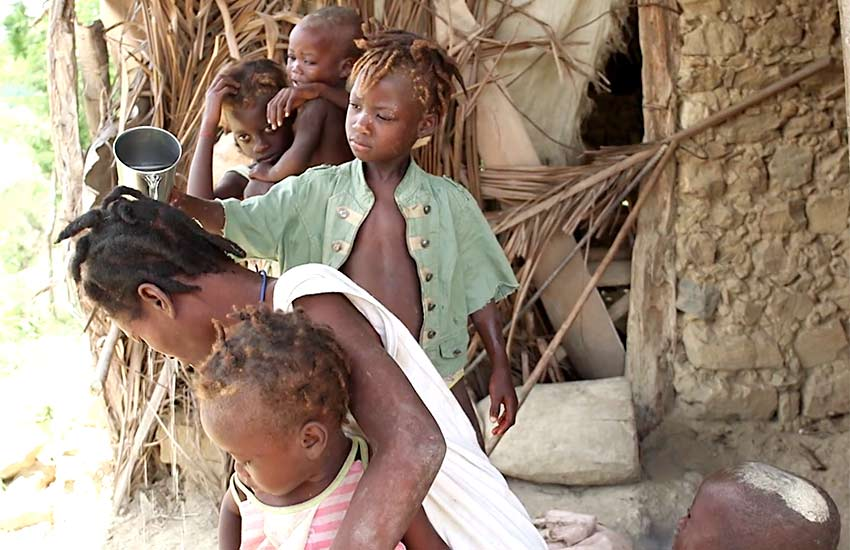Many children have to work to help their family survive.
