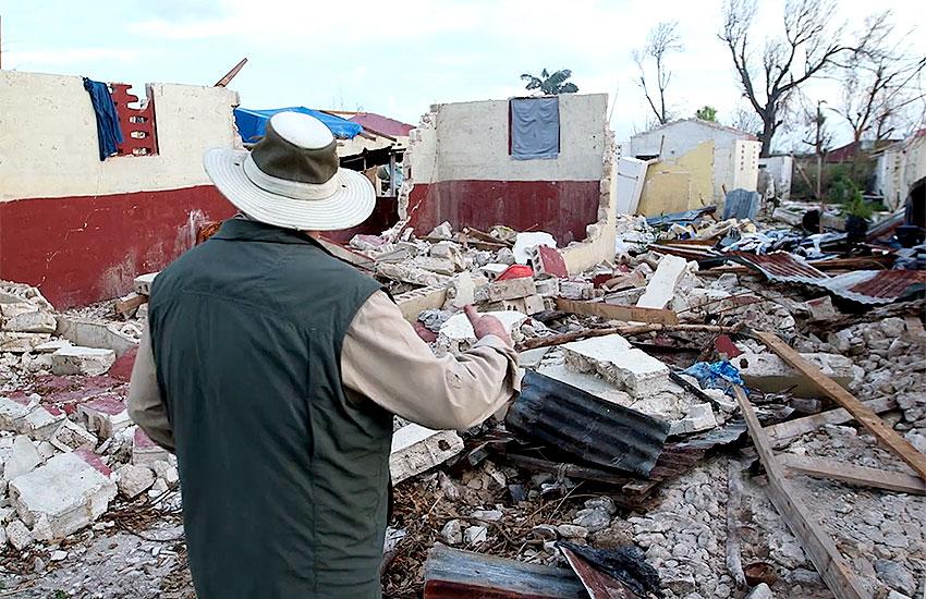 Hurricane damage in southwestern Haiti.
