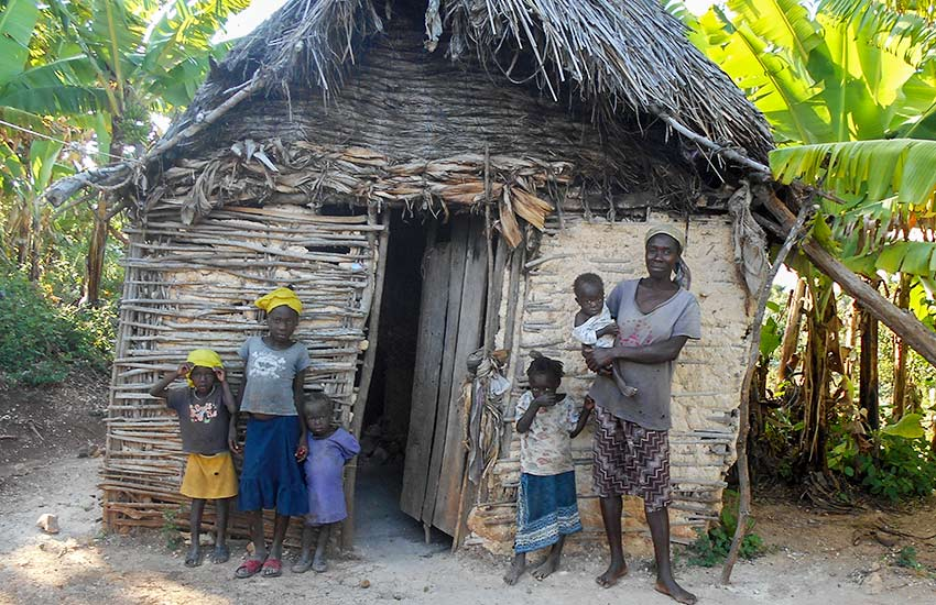 Children in Haiti suffer because of the hopeless poverty.