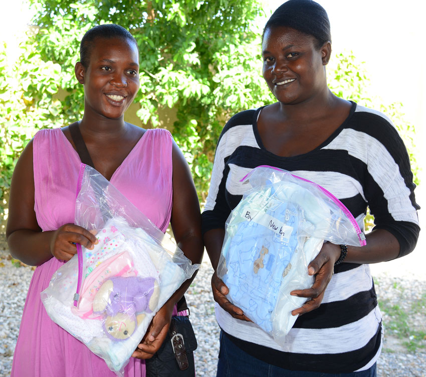 These birthing kits and the maternity training that expectant mothers receive in our maternity clinic.