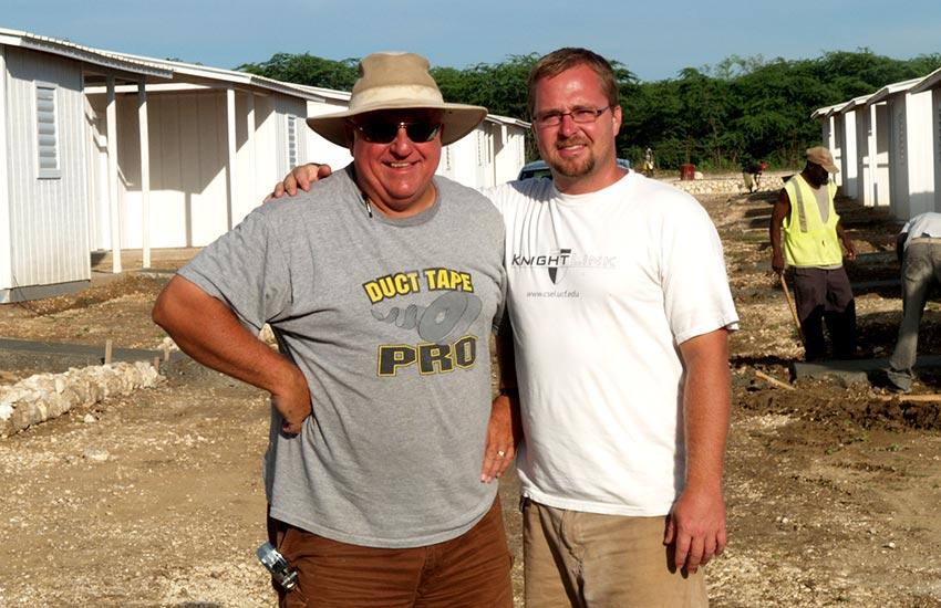 Mark Ostrander, along with his son Jesse Ostrander.
