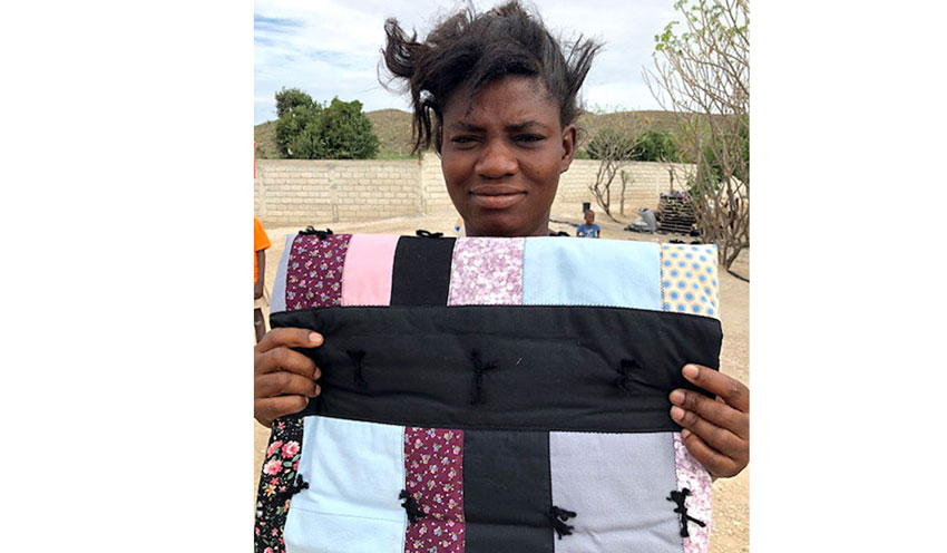 Donation of quilts and blankets.