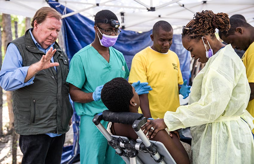 We took these wonderful volunteer doctors and dentists to the heart of Haiti's Voodoo country.