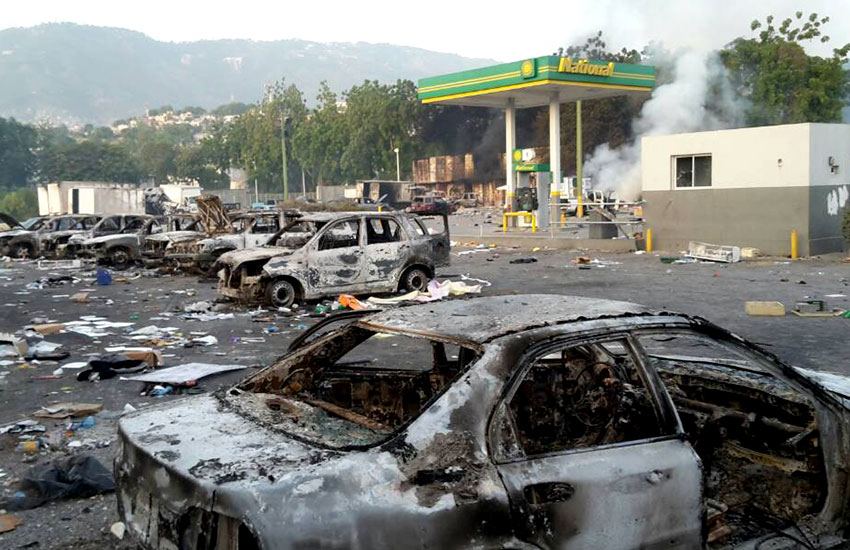Fuel increases sent people rioting into the streets, burning buildings, and gas stations.