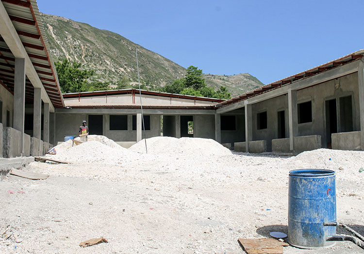 This new school will house about 600 children.